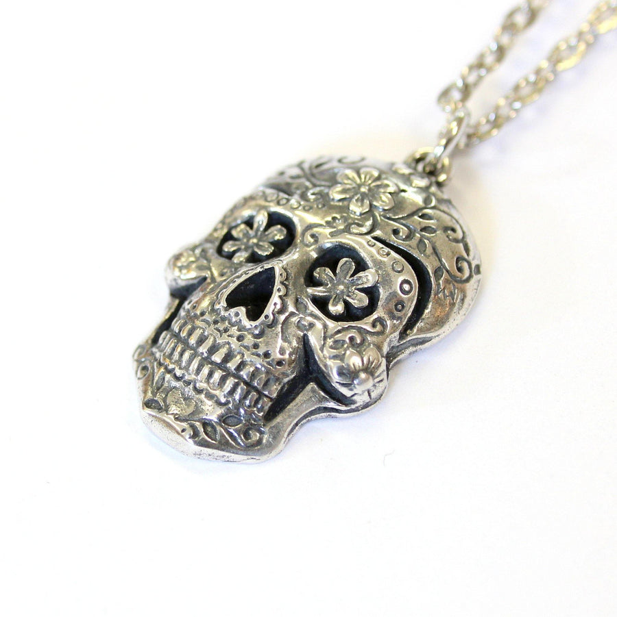 floral jewelry the products skull sugar necklace controse pendant