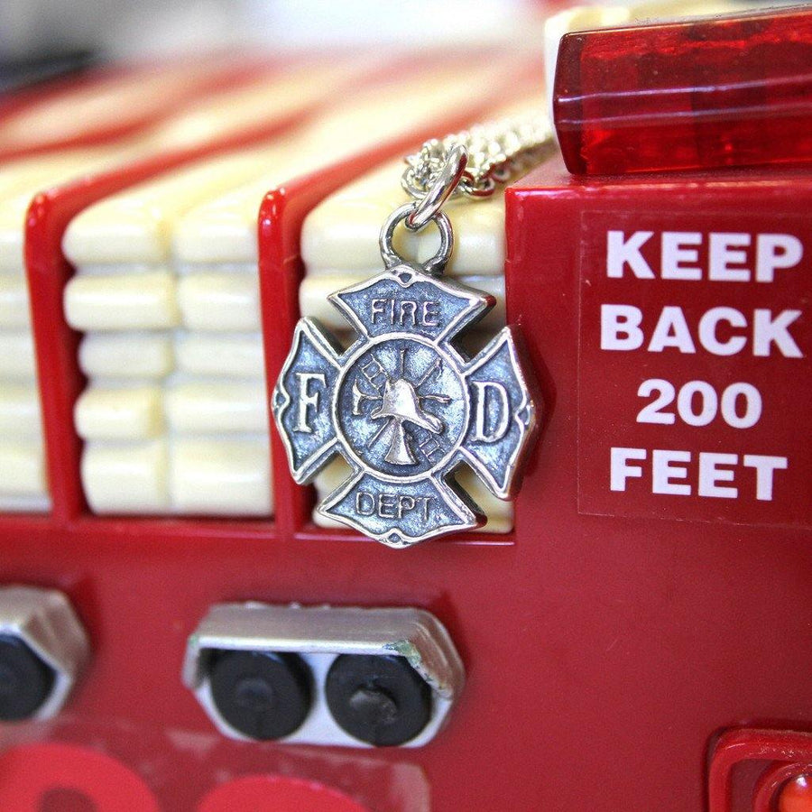 Firefighter Emblem Necklace Fire Dept - Moon Raven Designs