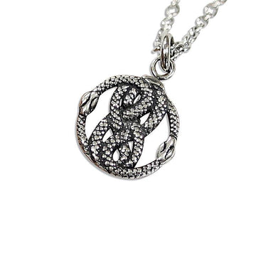 Tiny Sterling Silver Auryn Charm Pendant Necklace - Moon Raven Designs