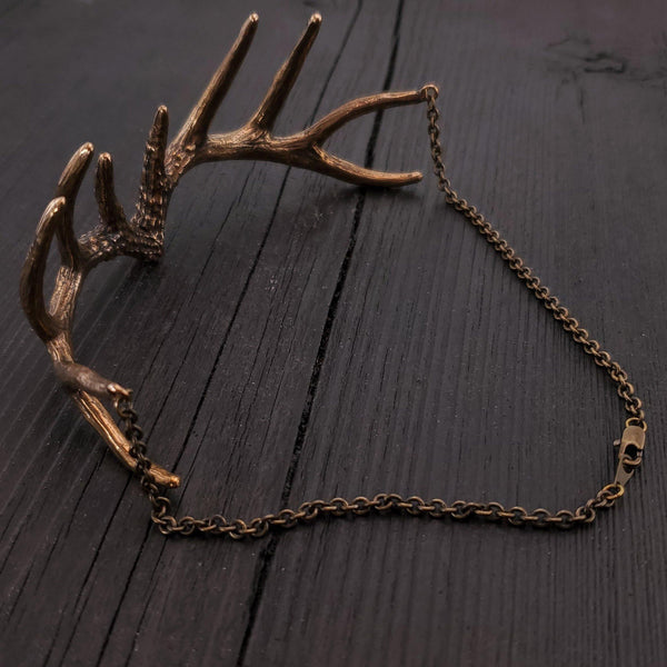 Antler Choker Necklace - Moon Raven Designs