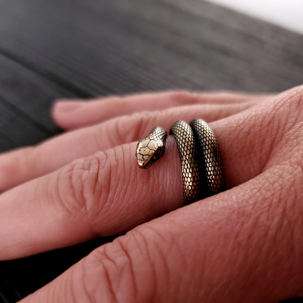 Colubrid Snake Wrap Ring