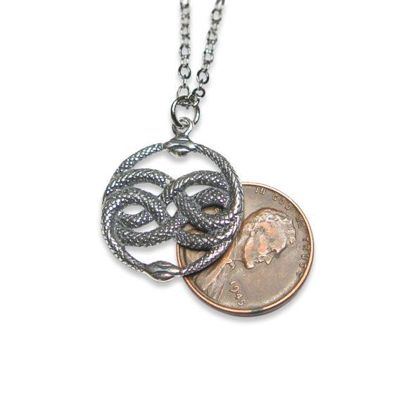 Auryn Pendant Necklace in Solid Sterling Silver - Moon Raven Designs