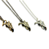Tiny Ram Skull Necklace - Moon Raven Designs