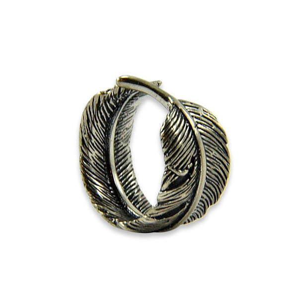 Raven Feather Bypass Adjustable Ring - Moon Raven Designs