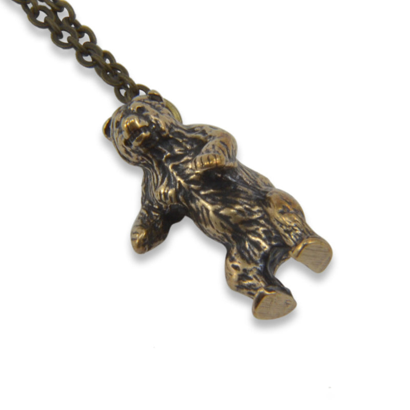 Tiny Cave Bear Necklace - Moon Raven Designs