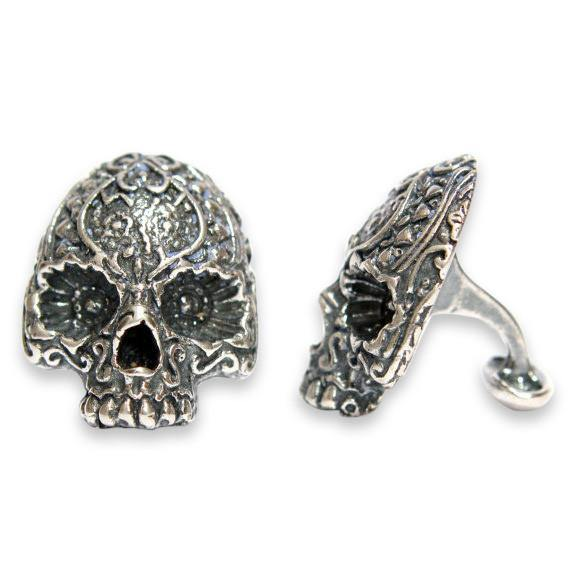 Day of the Dead Sugar Skull Cufflinks - Moon Raven Designs