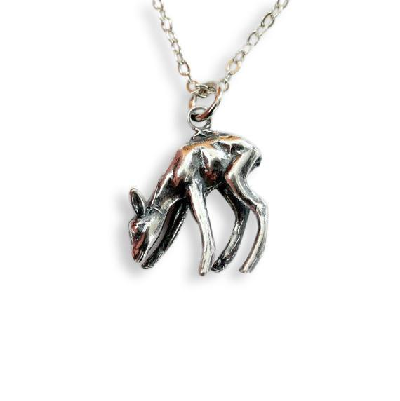 Deer Fawn Pendant Necklace - Moon Raven Designs