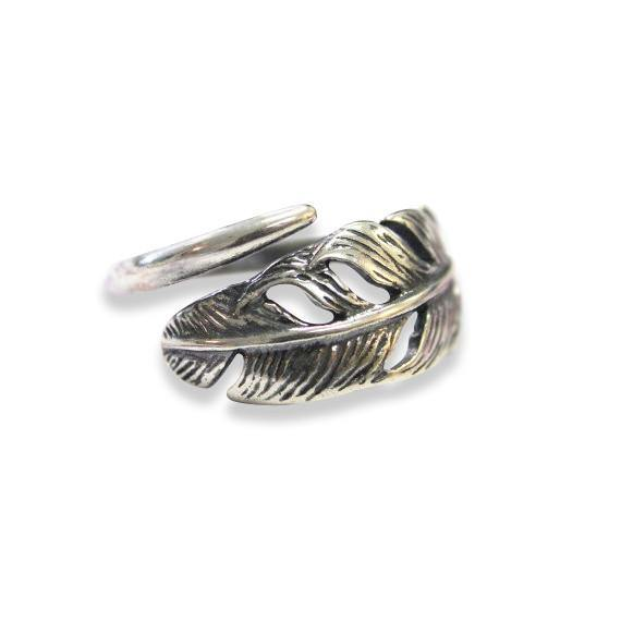 Silver Long Quilled Feather Ring - Moon Raven Designs