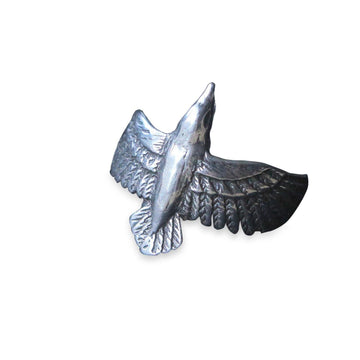 Flying Raven Ring - Moon Raven Designs