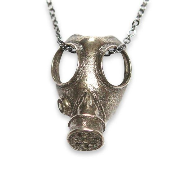 Gas Mask Necklace - Moon Raven Designs