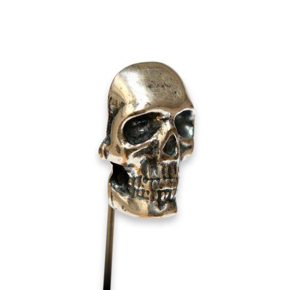 Human Skull Ascot Stick Pin - Moon Raven Designs