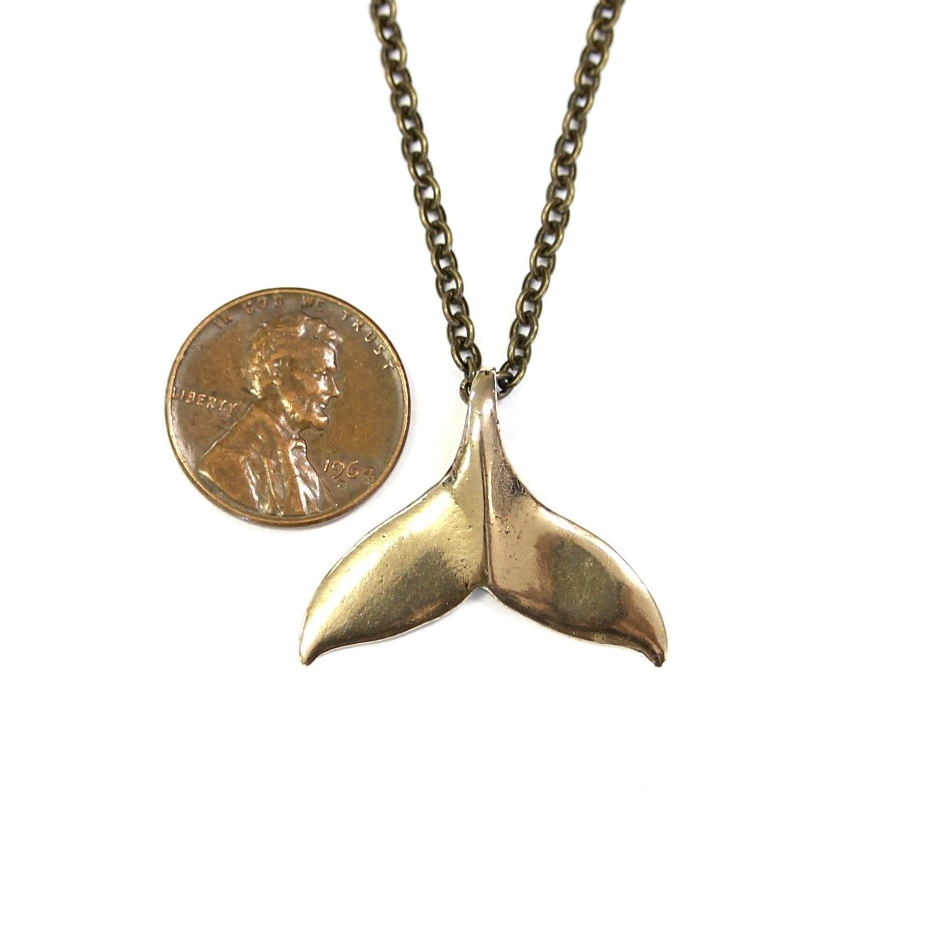 Humpback Whale Fluke Necklace Whale Tail Pendant