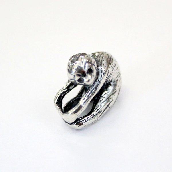 Baby Sloth Charm in Sterling SIlver - Moon Raven Designs