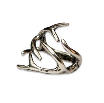 Deer Antler Adjustable Ring - Moon Raven Designs