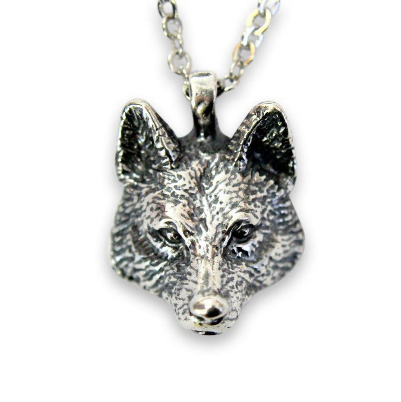 Realistic Wolf Head Pendant Necklace - Moon Raven Designs