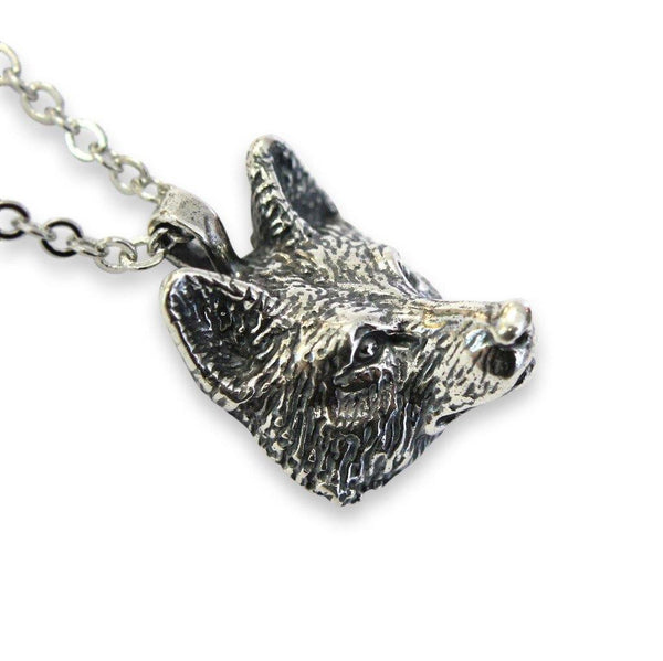 Realistic Wolf Head Pendant Necklace