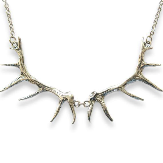 Imperial Elk Antler Bib Necklace - Moon Raven Designs