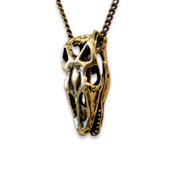 Komodo Dragon Skull Necklace - Moon Raven Designs