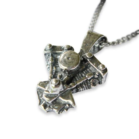 Motorcycle Engine Pendant Necklace - Moon Raven Designs