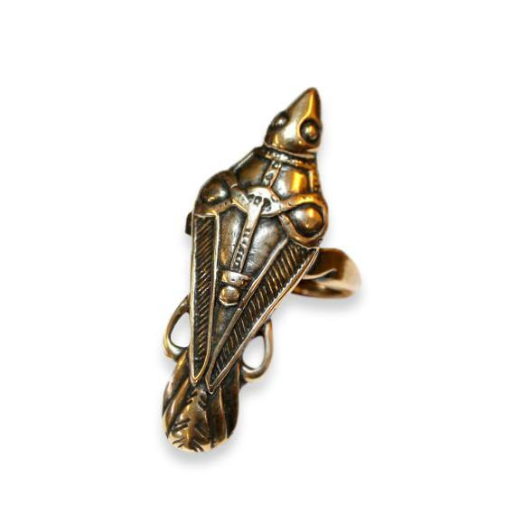 Ancient Odin's Raven Viking Talon Ring - Moon Raven Designs