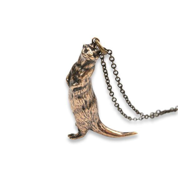 Standing Otter Pendant Necklace - Moon Raven Designs