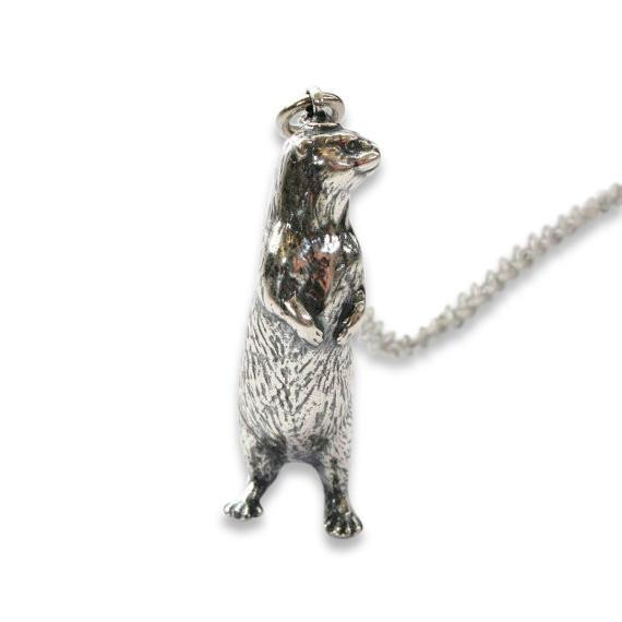 Standing Otter Pendant Necklace