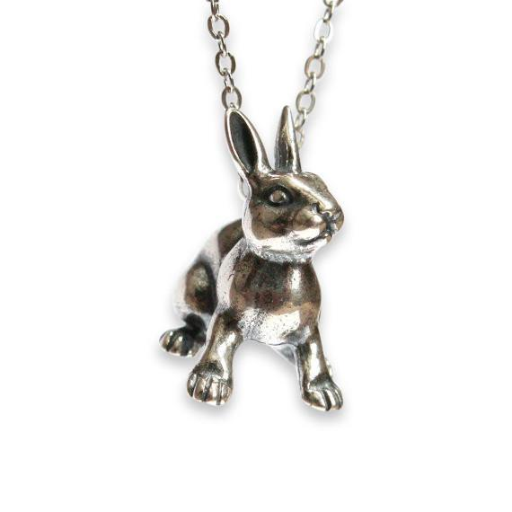 Rabbit Pendant Necklace - Moon Raven Designs