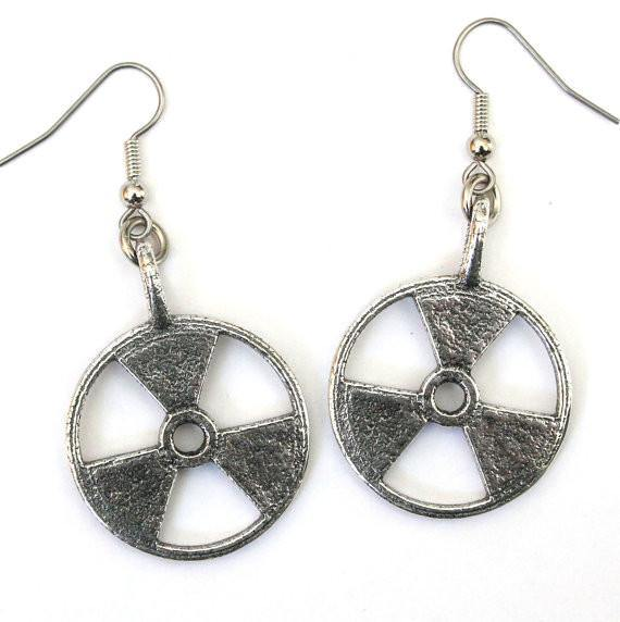 Radioactive Symbol Trefoil Earrings - Moon Raven Designs