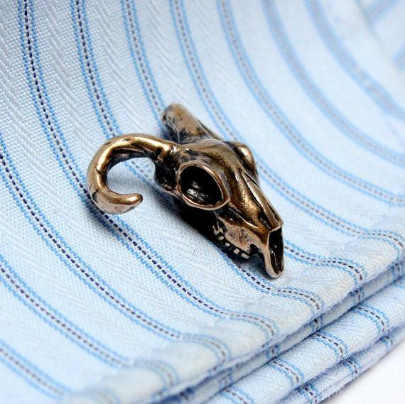 Ram Skull Cufflinks - Moon Raven Designs