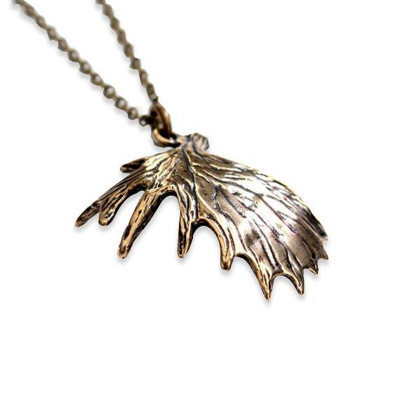 Shed Moose Antler Necklace - Moon Raven Designs