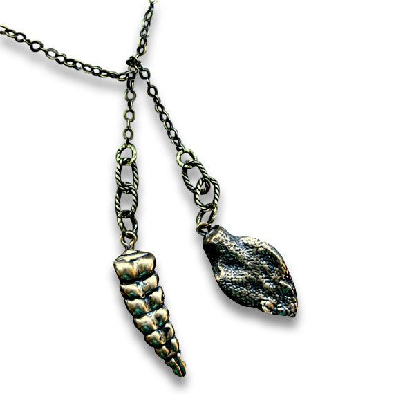 Snake Lariat Necklace - Moon Raven Designs