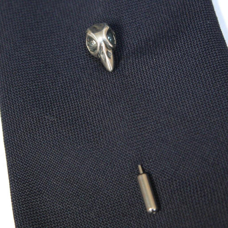 Sterling Silver Tiny Baby Bird Skull Ascot Stickpin - Moon Raven Designs