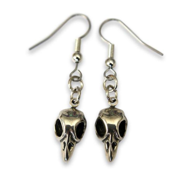 Tiny Baby Bird Skull Earrings - Moon Raven Designs