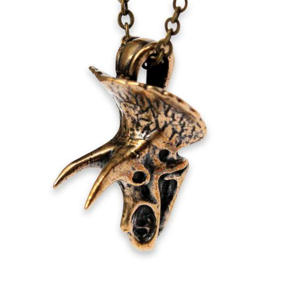 Triceratops Skull Necklace - Moon Raven Designs