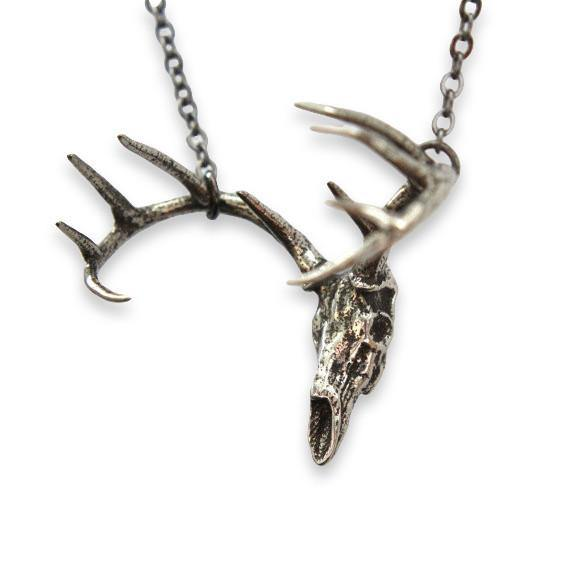 Trophy Deer Skull Pendant Necklace - Moon Raven Designs