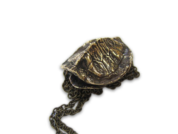 Turtle Shell Pendant Necklace - Moon Raven Designs