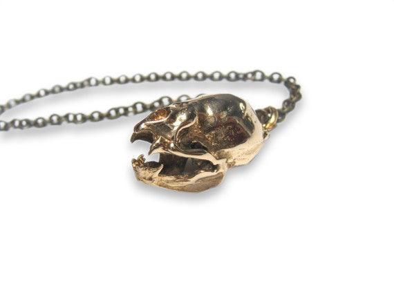 Vampire Bat Skull Necklace - Moon Raven Designs