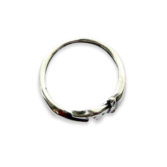 Silver Dachshund Wiener Sausage Dog Ring - Moon Raven Designs