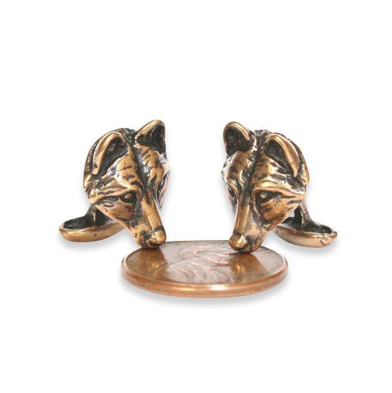 Wolf Face Cuff Links - Moon Raven Designs