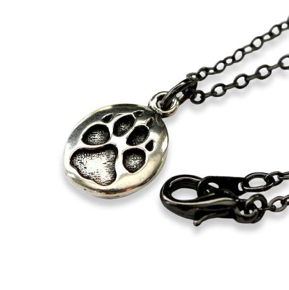 Wolf Track Necklace - Moon Raven Designs
