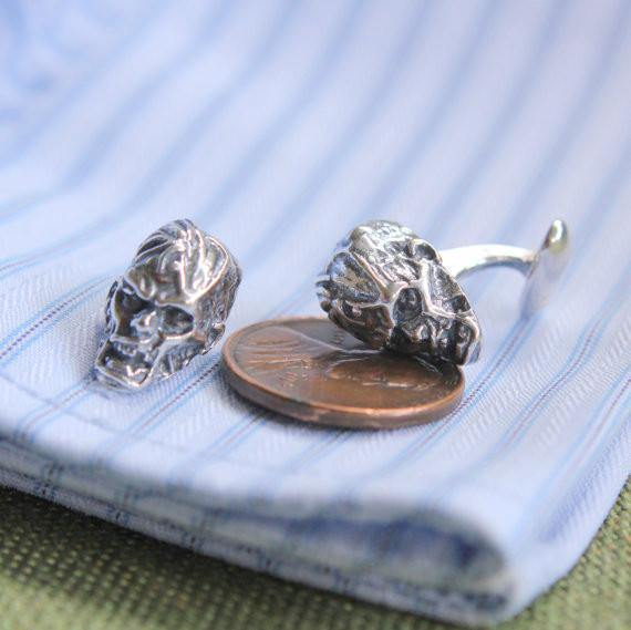 Zombie Head Cufflinks - Moon Raven Designs