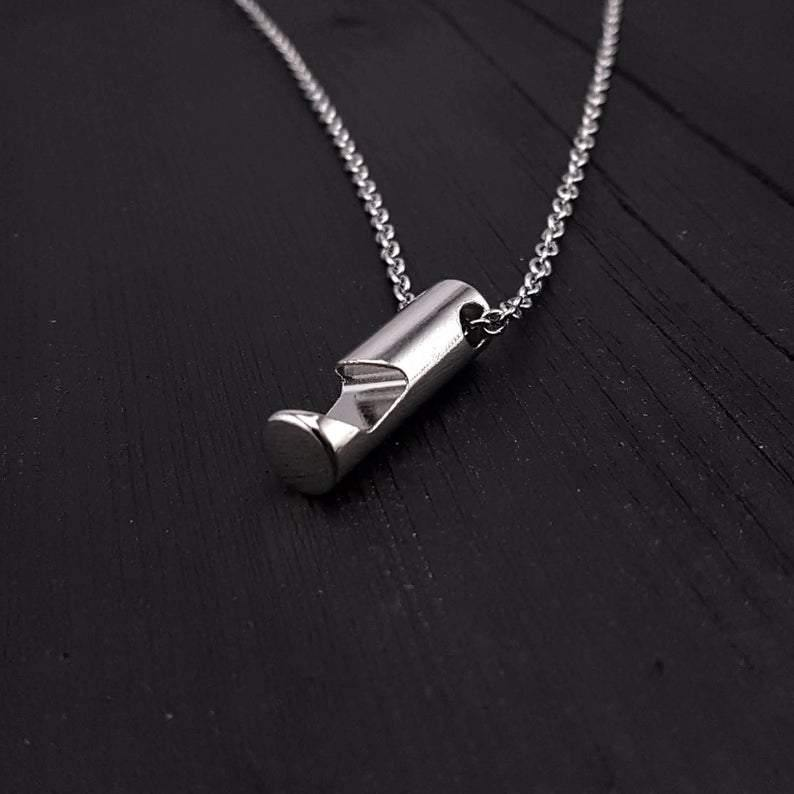 Silver Bottle Opener Pendant Necklace Solid Chrome Plated - Moon Raven Designs