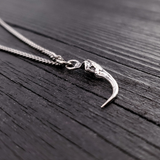 Rattlesnake Fang Charm Pendant Necklace