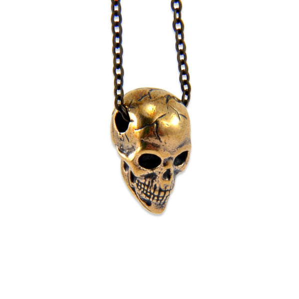 Tiny Human Skull Necklace - Moon Raven Designs