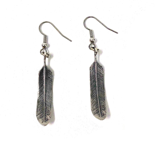 3D Feather Earrings - Moon Raven Designs