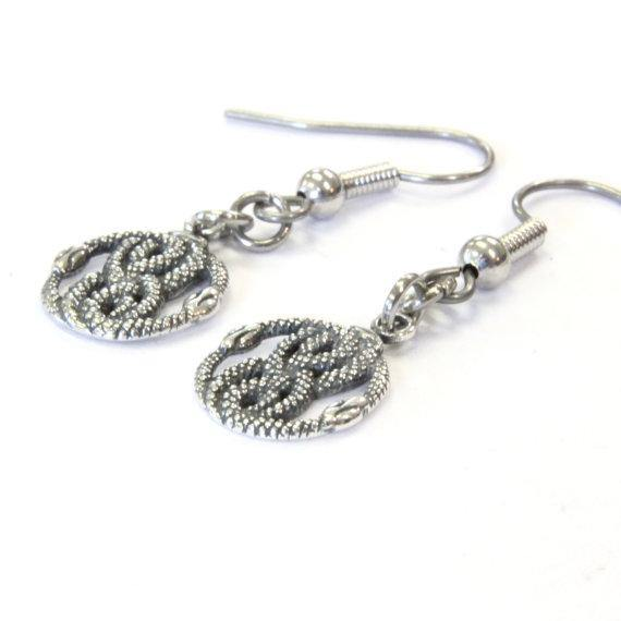 Tiny AURYN Earrings in Solid Sterling Silver Neverending Story - Moon Raven Designs