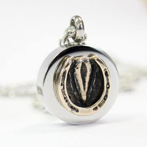 Horse Hoof Necklace Cremation Urn Pendant Pet Memorial Ash Keepsake Stash Vial