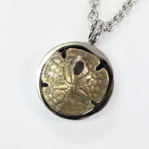 Sand Dollar Urn Necklace Cremation Urn Nautical Pendant Memorial Ash Keepsake Key Chain Option