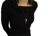 Raven Skull Necklace - Moon Raven Designs