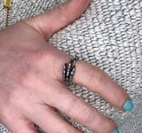 Owl Claw Talon Wrap Ring Stainless Steel - Moon Raven Designs